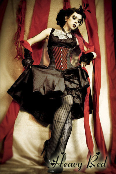 Red Corsets: Elegantly dark corsets, dresses, evening gowns, coats, shirts, skirts, hoodies, jewelry and more. A style that combines vintage beauty with modern edge and decadence.